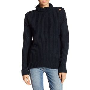Union Bay Supplies Nicole Distressed Cuff Sweater